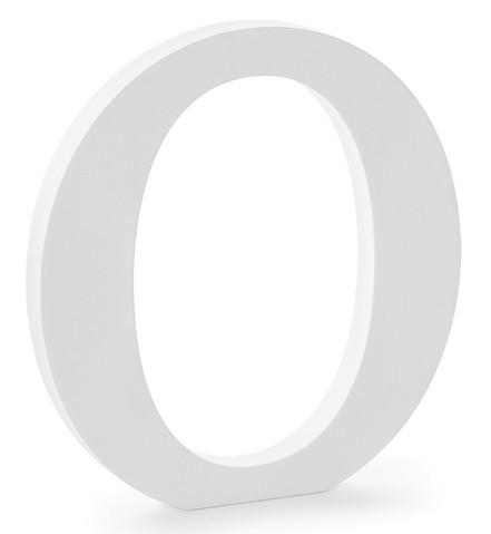 Holz Buchstabe O weiß 19,5 x 20,5cm