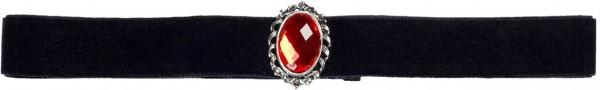 Schwarzes Gothic Halsband Mit Juwel