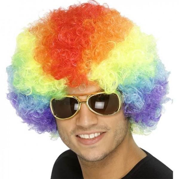 Rainbow Afro Perücke