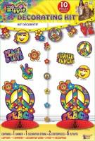 10-teiliges Hippie Party Deko Set