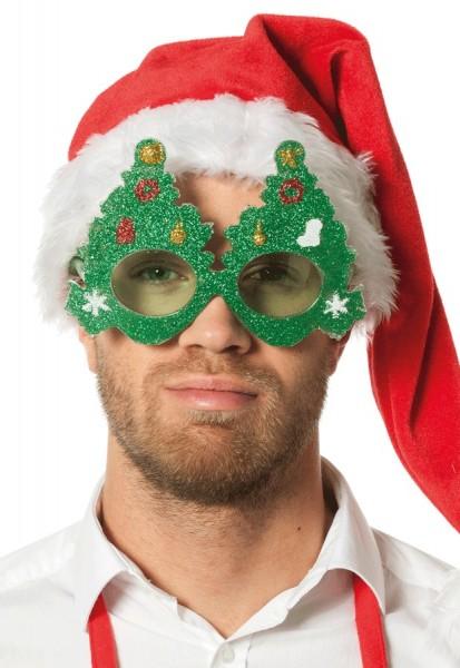 Gafas de fiesta de árbol de Navidad parpadeantes