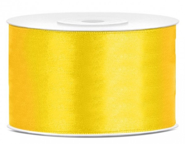 Ruban satin jaune 25m largeur 38mm