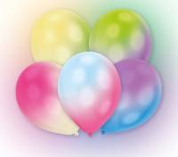 5er Set LED Luftballons Bunt 24h Brenndauer