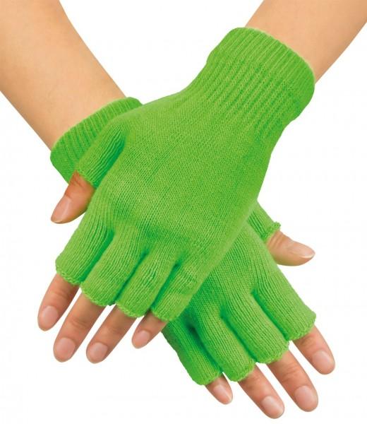 Neon Grüne Handschuhe Fingerlos