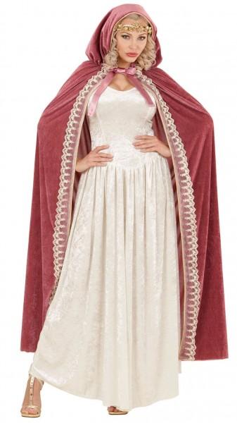Szlachetna damska peleryna z aksamitu