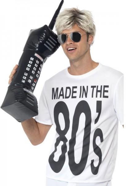Nadmuchiwany telefon komórkowy w stylu retro z lat 80