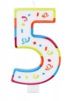 Große Geburtstagskerze Zahl 5 XL