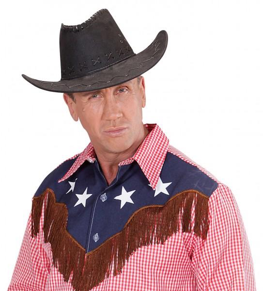 Schwarzer Gary Cowboyhut Mit Nähten