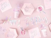 20 Rosa Birthday Servietten 33cm