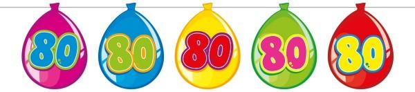 Funny 80th Birthday Girlande 10m