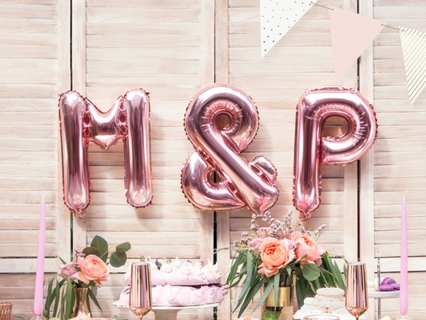 Foil balloon P rose gold 35cm