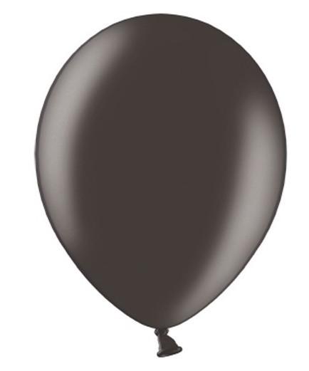 10 Ballons Metallic Schwarz 30cm 1