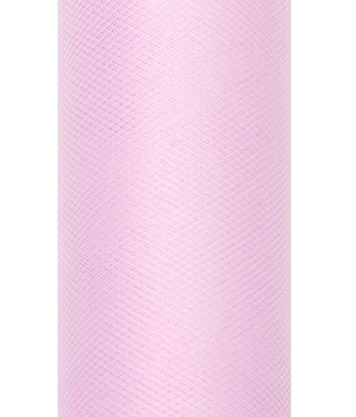 Tissu tulle Luna rose pâle 20m x 8cm