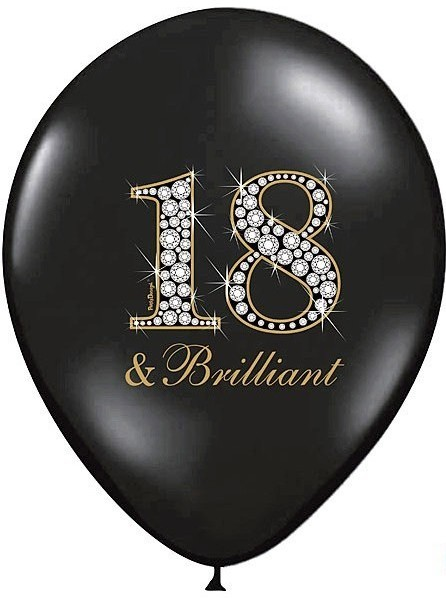 6 Luftballons Eighteen & brilliant 30cm
