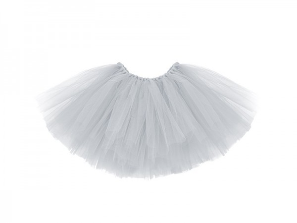 Tutu skirt gray with bow 25cm