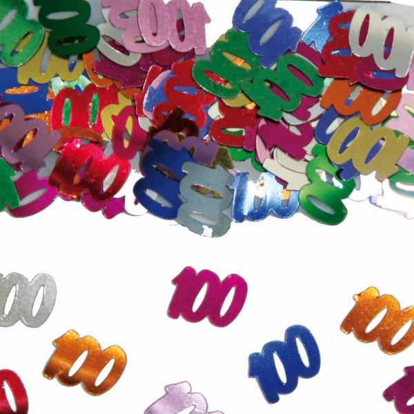 Tischdekoration Konfetti 100. Geburtstag