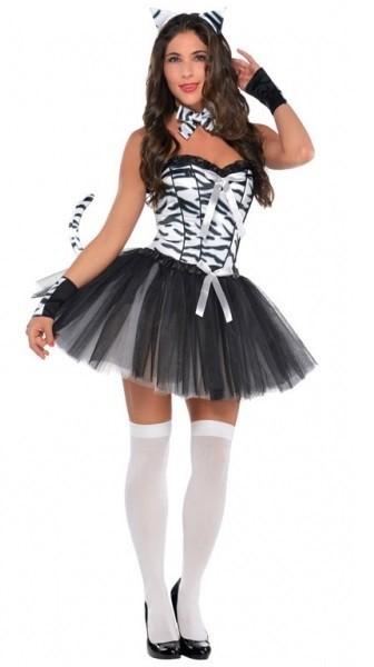Sexy Zebra Damenkostüm