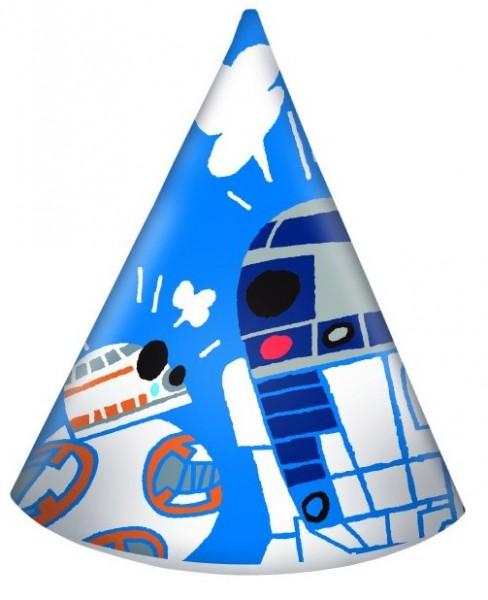 6 gorros de fiesta Star Wars Forces 16cm