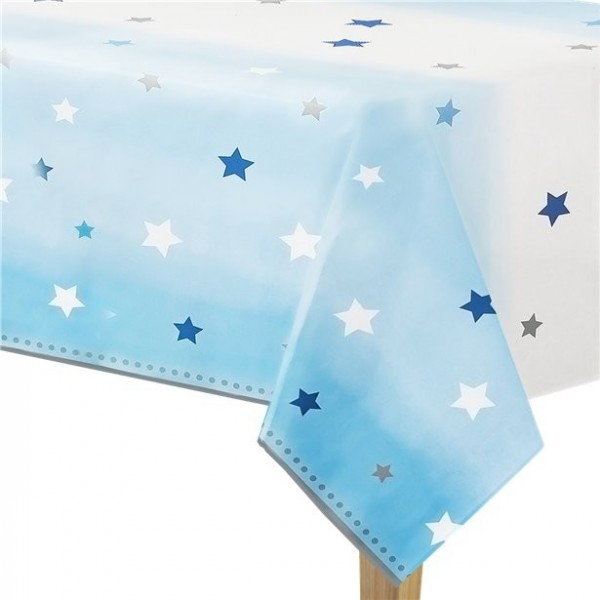 Twinkle Blue Star tablecloth 1.4 x 2.6m