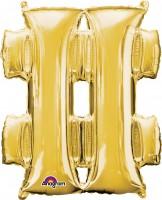 Folienballon Symbol # gold 83cm