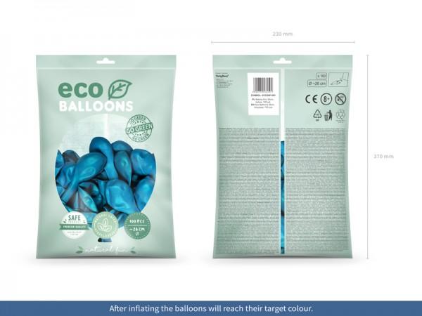 100 ballons éco pastel bleu azur 26cm