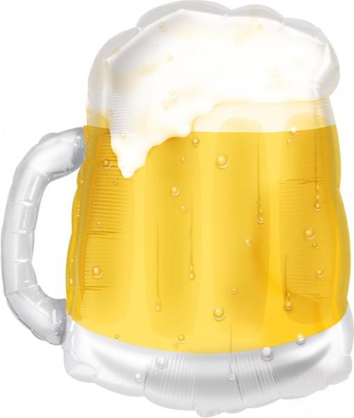 Chope à bière ballon aluminium 50 x 58 cm