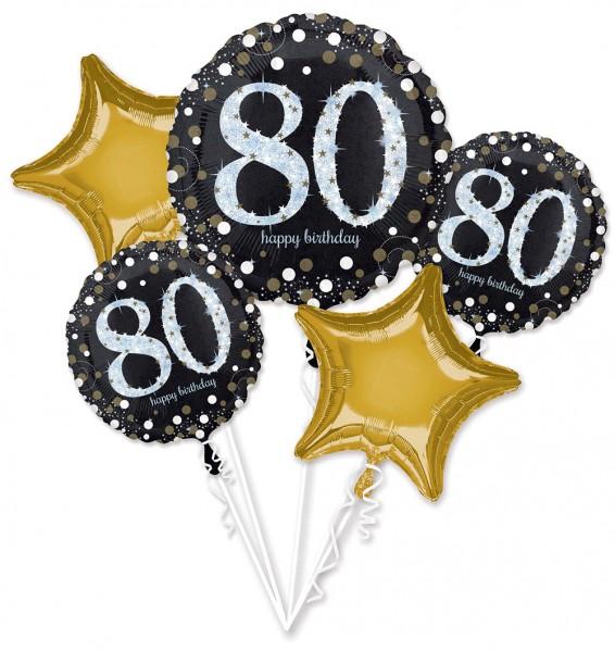 80. Geburtstag Folienballon Bouquet