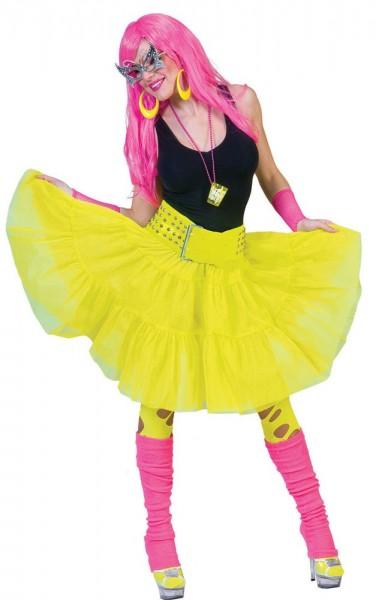 80s neon yellow tulle skirt