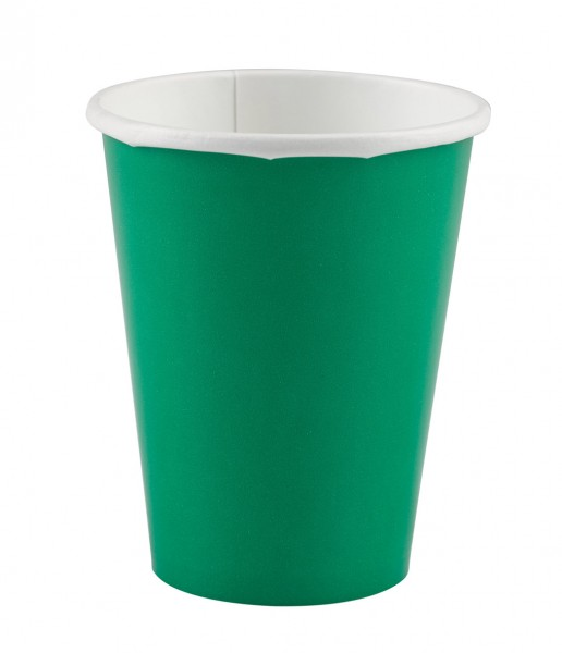 8 vasos papel buffet fiesta verde 266ml
