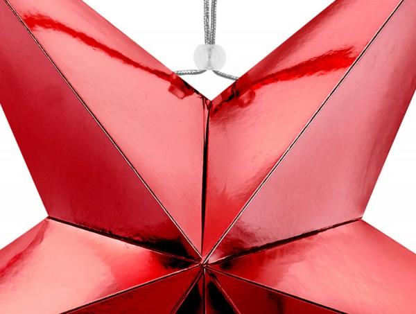 3D Weihnachtsstern rot 70cm