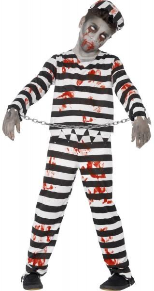 Blutiger Insasse Zombie Kostüm für Kinder
