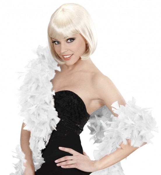 White Fidella feather boa 180cm