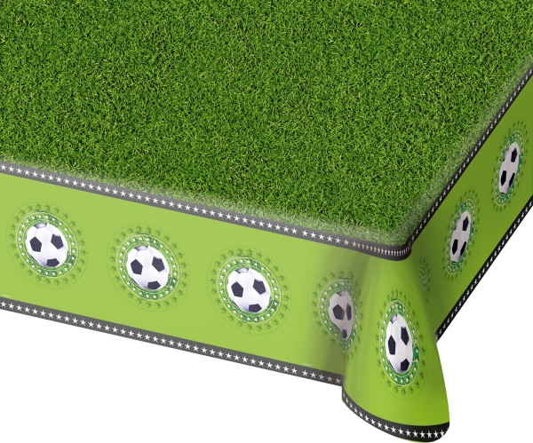 Fußballplatz Tischdecke mit Motivrand