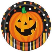 Halloween Kürbis Spaß Pappteller 23cm