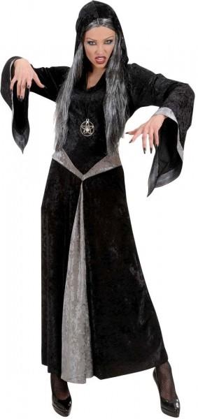 Robe en velours sorcière costume de femme sorcière