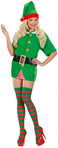 Red green striped stockings