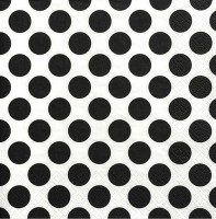 20 Blacks Dots Servietten 33cm