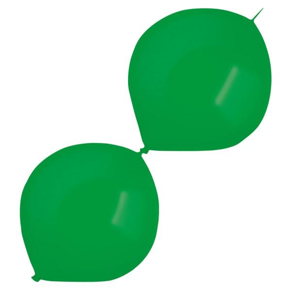 50 metalicznych balonów girlandowych zielonych 30cm