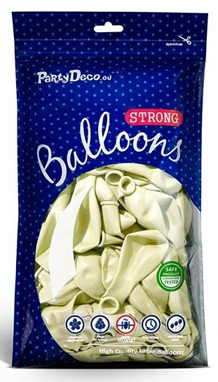 20 Partystar metallic Ballons creme 23cm