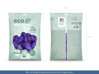 100 Eco metallic Ballons violett 26cm