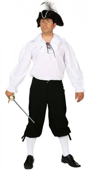 Schwarze Herren Kniebundhose Victor