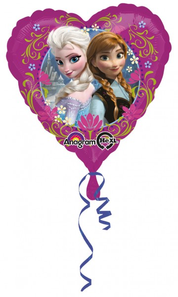 Frozen heart balloon Anna & Elsa