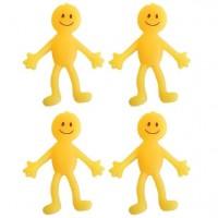 4 Dehnbare gelbe Smileymännchen
