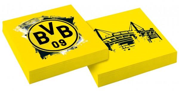 20 servilletas BVB Dortmund 33cm