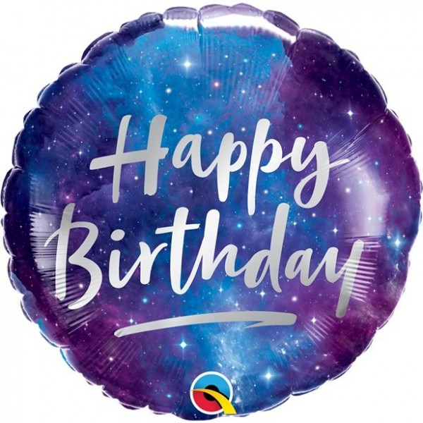 Galactic Birthday Folienballon 46cm