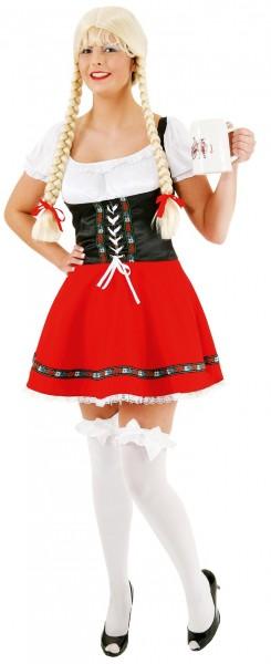 Schwarz-rotes Josephine Dirndl