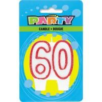 Happy 60th Birthday Block Kerze