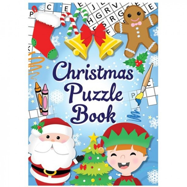 Mini Christmas Puzzle Booklet for Kids
