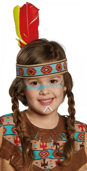 Indianer Stirnband Mit Federn Für Kinder