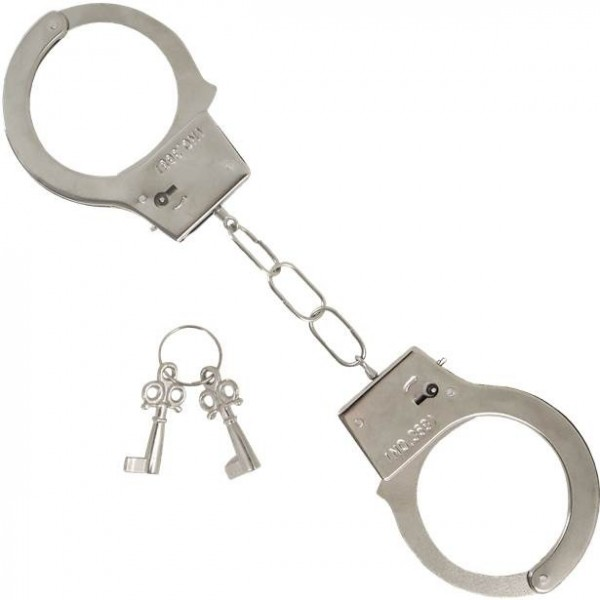 Metallische Handschellen Polizia